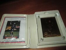 1993 Drew Bledsoe New England  Highland Mint Solid Bronze Card w/ Case & COA