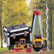 Automatic Red Beam Self-leveling Rotary Laser Level(case)+1.65M Tripod+5M Staff