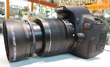 0.43x Wide Angle+Macro for Canon EF 50mm f/1.4 USM l EF-S 55-250mm f/4-5.6 IS HD