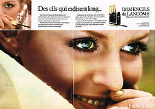 PUBLICITE ADVERTISING 044  1977  LACOME  cosmétiques  IMMENCILS  ( 2 pages)