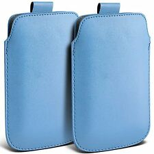 Twin Pack PU Leather Pull Tab Case Cover Pouch For Blackberry Q20 Classic