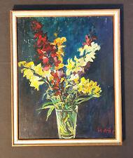 ALBERT KLAUSER  schwäbischer Künstler ULM +1994. Expressives Blumenstillleben