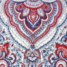 Williamstown PAISLEY MEDALLION 3PC KING QUILT SHAM SET Red White Blue Cotton new