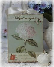 """~ """"Hydrangea"""" ~ Vintage Shabby Country Cottage Chic style ~ Wall Decor. Sign ~"""