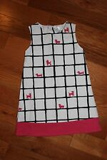 NWT Gymboree Posh and Playful Size 5T Black & White Pink Dog Ponte Jumper Dress