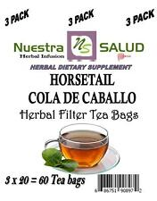 Cola De Caballo Tea Filter Herbal Tea (60 Tea bags) Horsetail Tea
