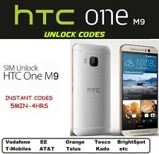 Unlock Code HTC One M9 M8 Desire 626 Desire Eye  T mobile AT&T European Networks