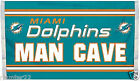 Miami Dolphins Huge 3'x5' NFL Licensed Man Cave NFL Flag / Banner -Free Shipping