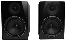 "Rockville APM6B 6.5"" 2-Way 350W Active/Powered USB Studio Monitor Speakers Pair"