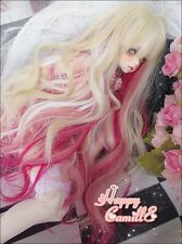 "NEW 1/3 BJD SD AA LUTS PULLIP 8-9"" 22-24cm Dreamlike Blonde Mix Pink Long Wig"
