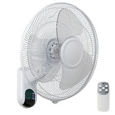 Mercator Athena 16 Inch Wall Fan White High Air Flow With Remote Control