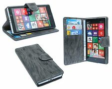 Accessories for Nokia Lumia 930 book - bag Style like a book + Foil Anthracite