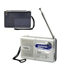 Universal Pocket AM/FM Receiver Portable Radio Antenna Built in Speaker Quality