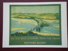 POSTCARD  DGA 147  SOUTHERN RAILWAY - SEE THE WEST COUNTRY FROM THE TRAIN
