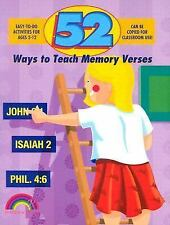 Fifty-Two Ways: 52 Ways to Teach Memory Verses by Nancy Williamson (2004,...