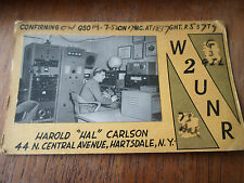 "Rare Advertising Photograph/Card Harold ""Hal"" Carlson W2UNR Amateur Radio USA"