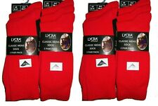 NEW PACK OF 12 PAIRS MENS 6-11 RED EVERYDAY USE LYCRA SOCKS COMFORTABLE BUSINESS