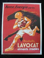Rugby c.1940/50's Original French Lavocat Advertising Poster by Henri Prost