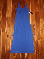 NWT Womens DESIGN HISTORY Blue Braided Front Sleeveless Maxi Dress Size S Small