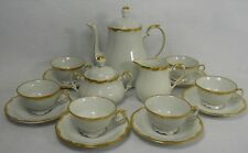TRIPTIS Kahla KHL89 Germany GOLD SCROLL 17-piece Demitasse Set -Pot Cup Saucer