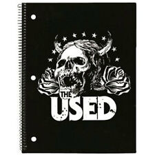 THE USED Horned Skull Spiral Notebook Writing Pad NEW OFFICIAL MERCH - UNOPENED