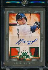 2015 Diamond Kings Framed Green Auto Autograph Relic Jose Altuve Astros, #2/5