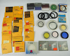 Lot 30+ Camera Lens Filters Gelatin 75mm Cokin Hoya Yellow Green Tiffen + MORE