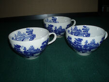 3 Antique COFFEE TEA CUPS - NASCO CHINA Lakeview -VINTAGE