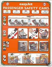 Safety Card - easyJet - B737 300 - Green Border - 2001 (S3528)