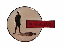 "UFO SHADO Gerry Anderson TV Series Logo Enamel PIN 1 3/8"" X 1"""