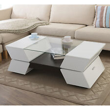 Enitial Lab YNJ-128-2 Piazza Glass-Top Coffee Table