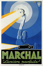 Marchal Automotive Lighting  by Roger Perot 1927 Poster 13 x 19 Giclee print