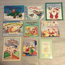 Lot of 9 Christmas Picture Books Santa Nativity Songs Counting Precious Moments