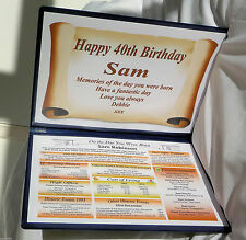 HAPPY  30TH BIRTHDAY  GIFT- THE YEAR YOU WERE BORN - ANY AGE - KEEPSAKE MEMENTO