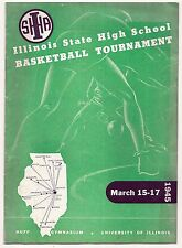 1945 IHSA Illinois State High School Basketball Tournament Program at U of I
