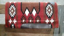 Rust  / black / brown Showman Western saddle pad 6006 wool w/memory felt 36 X 34
