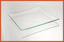 """Decoupage, Etch, Engrave, Art 7"""" Square Clear """"BENT"""" Glass Plate 1/8 Behrenberg"""