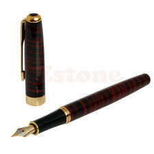 baoer 388 Red and Black Stripes Medium Nib Fountain Pen High Quality