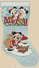Gráfico de punto De Cruz Navidad Stocking Mickey Mouse FlowerPower 37-UK