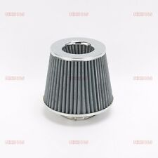"""3"""" PERFORMANCE RACING HIGH FLOW AIR INTAKE DRY CONE  RUBBER FILTER +CLAMP GARY"""