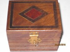 Inlaid Locked Box Magic Trick - Lippincott Stage Item Appears in LOCKED Wood Box