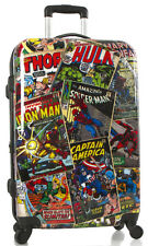 "Heys America Marvel Comics Luggage 26"" Upright Spinner 4 Wheel Hardside NEW"