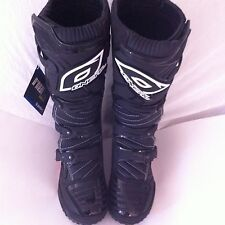 Oneal Element MX ATV Motorcycle Racing Boots Mens Black Size US10 / EUR 43