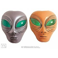 Silver Or Beige Alien Mask Plastic for UFO Space Sci Fi Fancy Dress Accessory