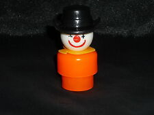 Fisher Price Little People Vintage Orange Circus Clown