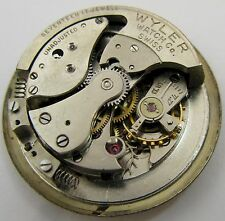 Wyler AS 1171 automatic bumper watch movement 17 jewels for parts ...