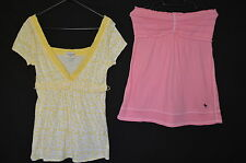Paquete De 2 Abercrombie & Fitch Tops Talla M/l pink/yellow