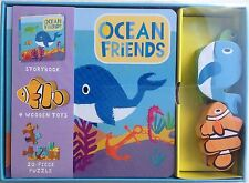 Ocean Friends - book, jigsaw and wooden toys