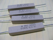 Qty 10 IRC PLO10-R010F Ceramic Cement 0.01 Ohm 1% 10W Resistors High Power NOS