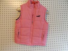 Youth girls PUMA winter vest - pink and black - medium